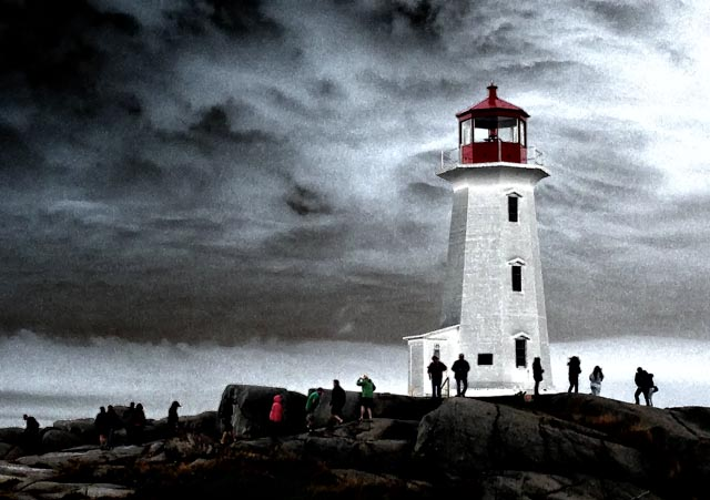 Looking for the Sun in Peggy's Cove, Nova Scotia